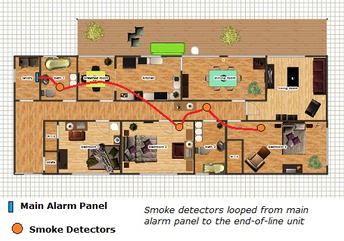 wiring diagram for back up alarms connecting 2 wire smoke detectors  connecting 2 wire smoke detectors