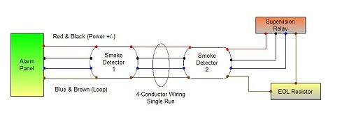 4 wire smoke 005 connecting 4 wire smoke detectors how to wire a smoke detector diagram at crackthecode.co