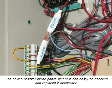connecting 4 wire smoke detectors rh home security systems answers com EOL Resistor Resistors Wired in Parallel Diagram