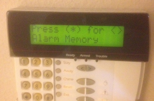 Display of Alarm Memory function on DSC Power 832 keypad