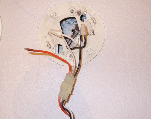 Compare your wires to the smoke detector wiring diagram