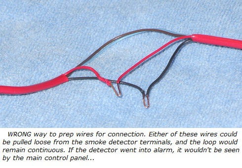 Hardwired smoke detector wiring