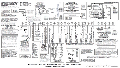 Ademco Vista 20P wiring diagram-Click to Enlarge