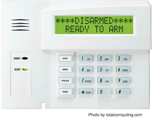 Keypad display Normal, smoke detector beeping