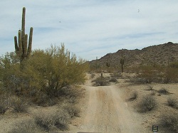 4-wheeling trail in the Arizona desert