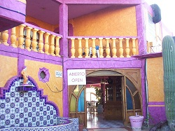 Entrance to El Capitan Restaurant in Rocky Point, Mexico