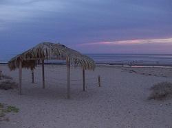 Mexico beach at dusk