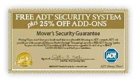 ADT Premium Movers Package Certificate