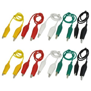 Alligator clips for troubleshooting alarm wiring
