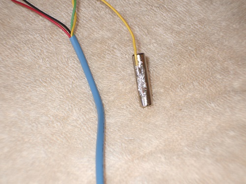 Wire soldered to rare earth magnet