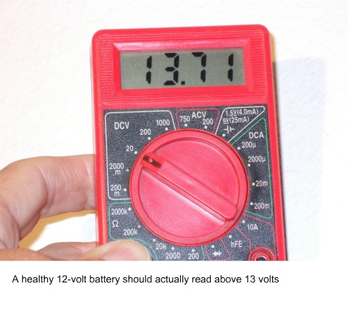 Security alarm battery voltage