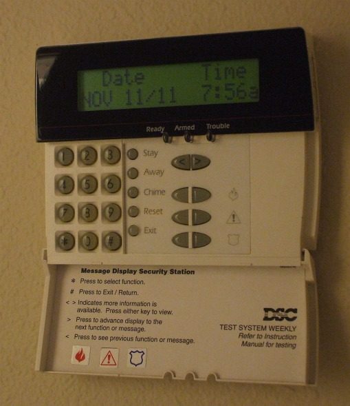 alarm system keypads basic and advanced features. Black Bedroom Furniture Sets. Home Design Ideas