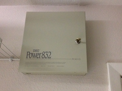 Alarm System Manual Sources - Outside of panel. Notice Marketing Name 'DSC Power 832'