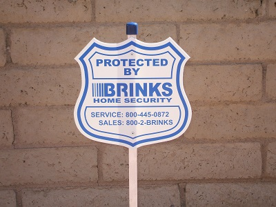Brinks Home Security Yard Sign