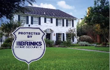 Brinks Home Security Sign