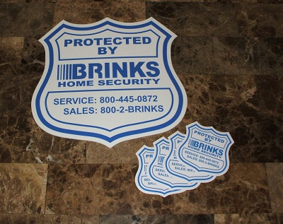 Brinks Home Security Sign and Stickers