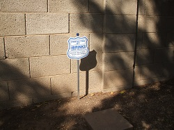 Brinks security yard sign