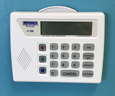 Brinks home security original keypad