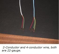 2-conductor and 4-conductor burglar alarm wire