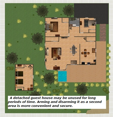 Security alarm custom security alarm Home plans with detached guest house