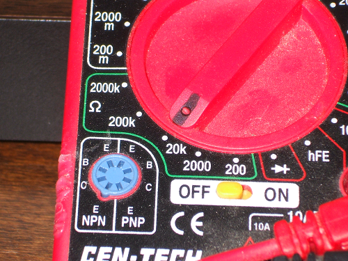 Digital multimeter by Cen-Tech from Harbor Freight