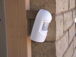 Finished installation of driveway alert system transmitter
