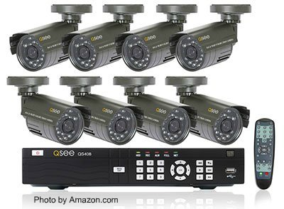 Dvr Security Camera System With 8 Channels