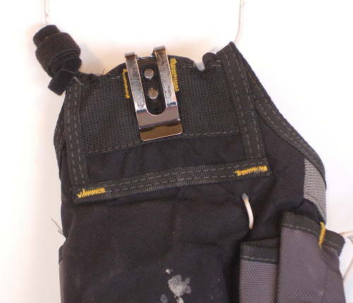 Electrician Tool Pouch Showing Belt Clip