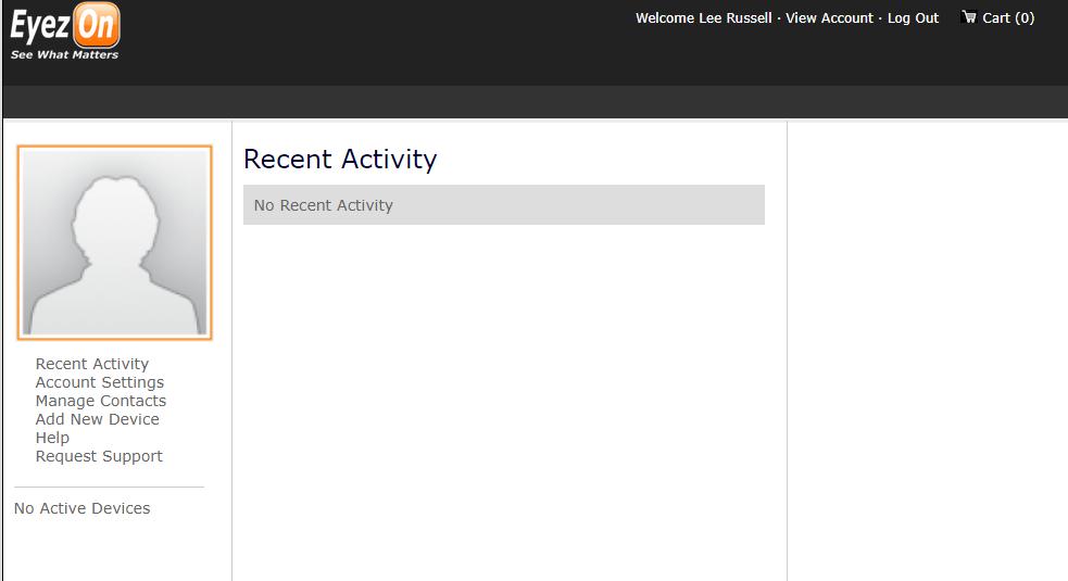 Recent Activity Screen