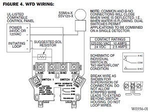 waterflow wiring diagram from system sensor