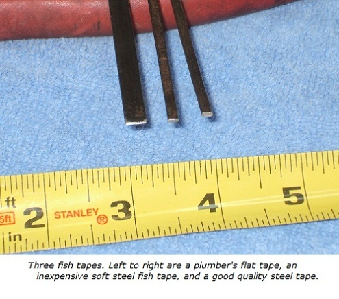 Plumbers fish tape, cheap steel tape, high-quality steel fish tape