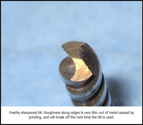Sharpen small drill bits