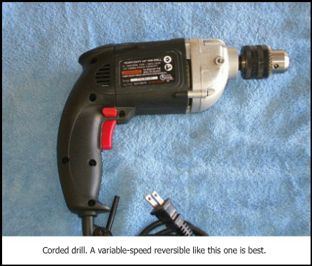 Corded drill for most flex drill bit sizes