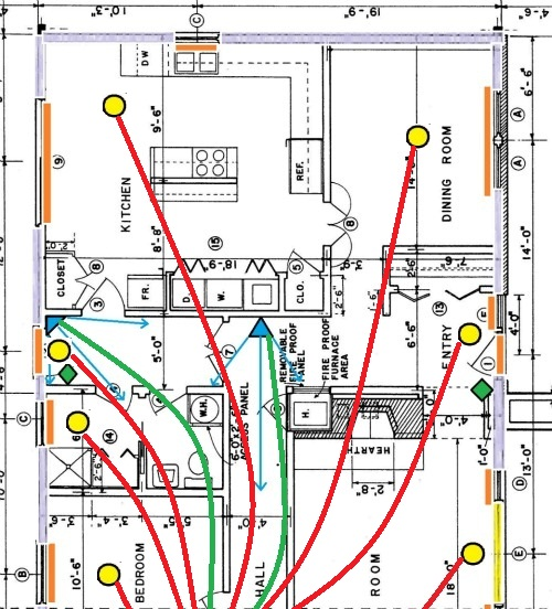 alarm wiring for glassbreak sensors rh home security systems answers com Fire Alarm Wiring Diagram Home Fire Alarm 4 to 3 Wire Wiring Diagram