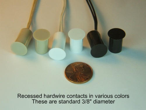 Recessed hardwire contacts