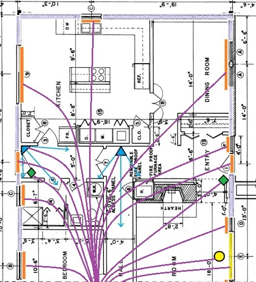 home alarm wiring for a new house, Wiring diagram