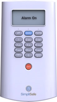 SimpliSafe security keypad