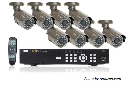 DVR Surveillance camera system with 8 cameras