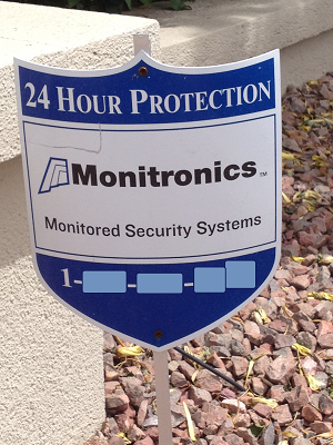 Home Security Prices - Monitronics Yard Sign