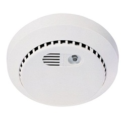Home smoke detectors beeping smoke alarm