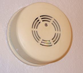 Beeping smoke alarm