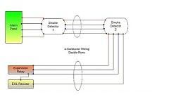 Smoke detector wiring