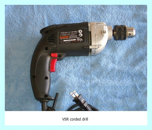 VSR corded drill with1/2-inch chuck