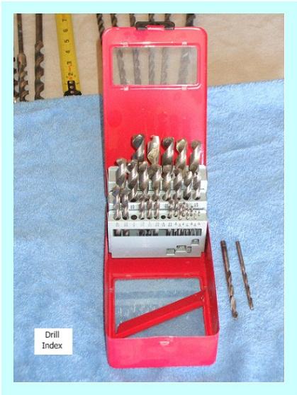 Steel drill bits in drill bit index