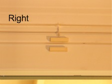 Magnetic door switch alignment right