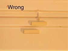 Magnetic door switch alignment wrong