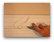 Magnetic door switch razor knife scoring caulking