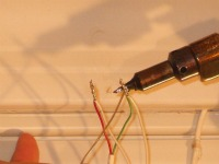 Using rosin core solder