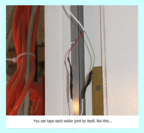 Tape switch wires seperately