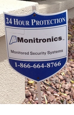Monitronics Home Security Yard Sign